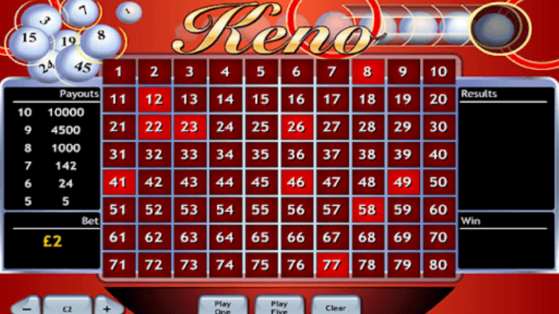 Try Your Luck With Keno